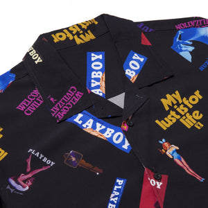 Playboy Collage Short Sleeve Woven Shirt Black