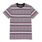 Load image into Gallery viewer, Playboy Stripe Short Sleeve Knit Top Burgundy