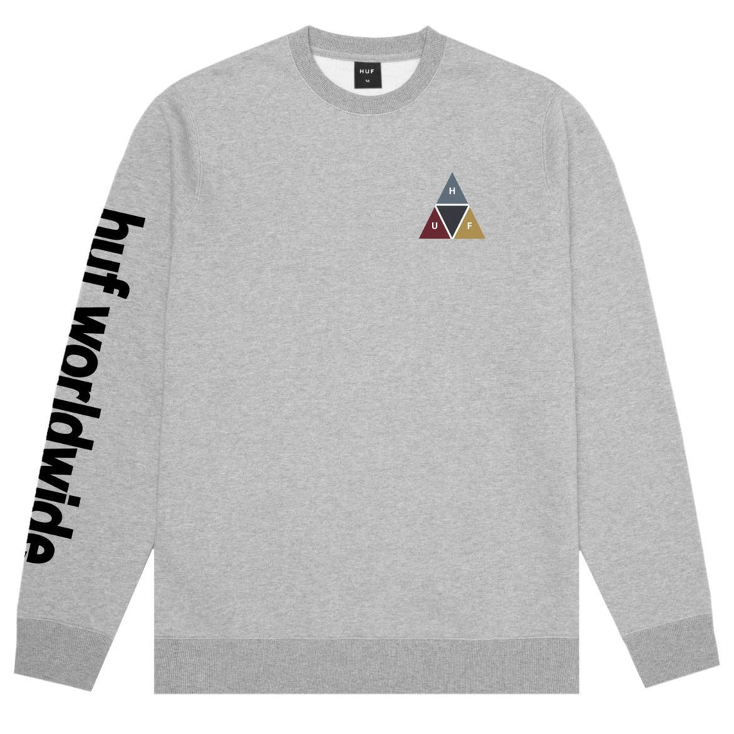 HUF Prism Crewneck Grey Heather