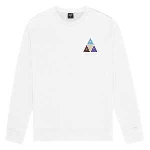 Huf Prism Trail Crewneck White