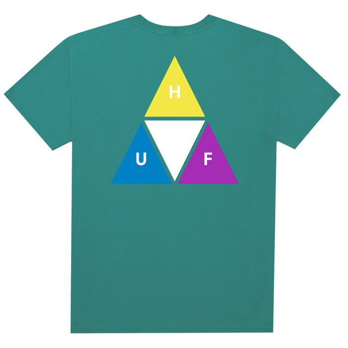 HUF Prism Triple Triangle T Shirt Mens Tee Quetzal Green