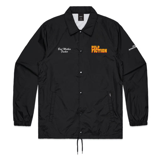 HUF Pulp Fiction Coaches Jacket Mens Black