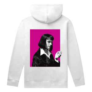 HUF Pulp Fiction Mia Pullover Hoodie Mens White