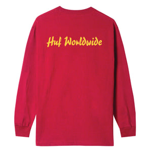 HUF Pulp Props Long Sleeve T-Shirt Mens Red