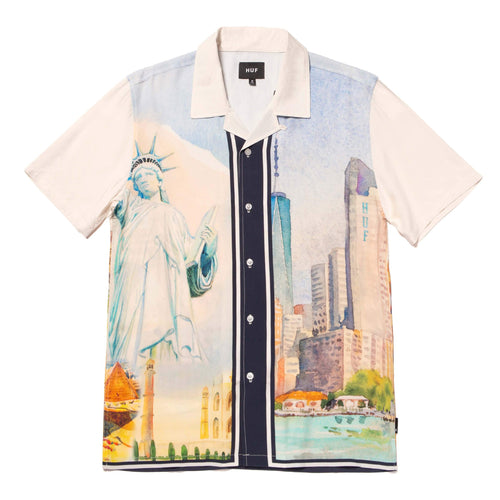 Huf Prestige Short Sleeve Resort Shirt White