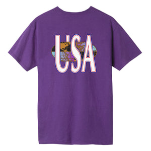 HUF Quake USA T-Shirt Grape