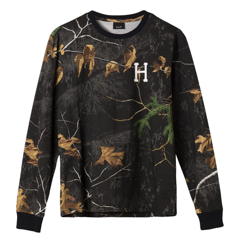 HUF Realtree Classic H Long Sleeve T-Shirt Realtree Black
