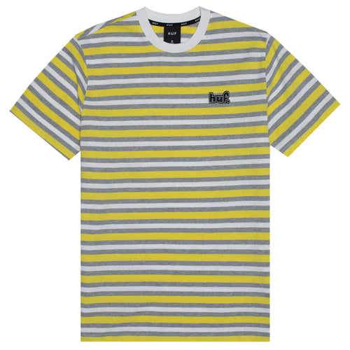 HUF Rockaway Short Sleeve Knit Top Aurora Yellow