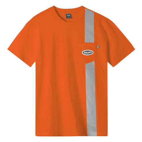 HUF Safety Short Sleeve Pocket T-Shirt Safety Orange