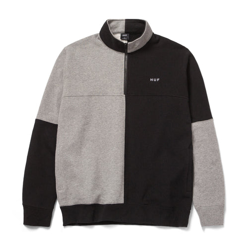 HUF Separator Quarter Zip Fleece Black