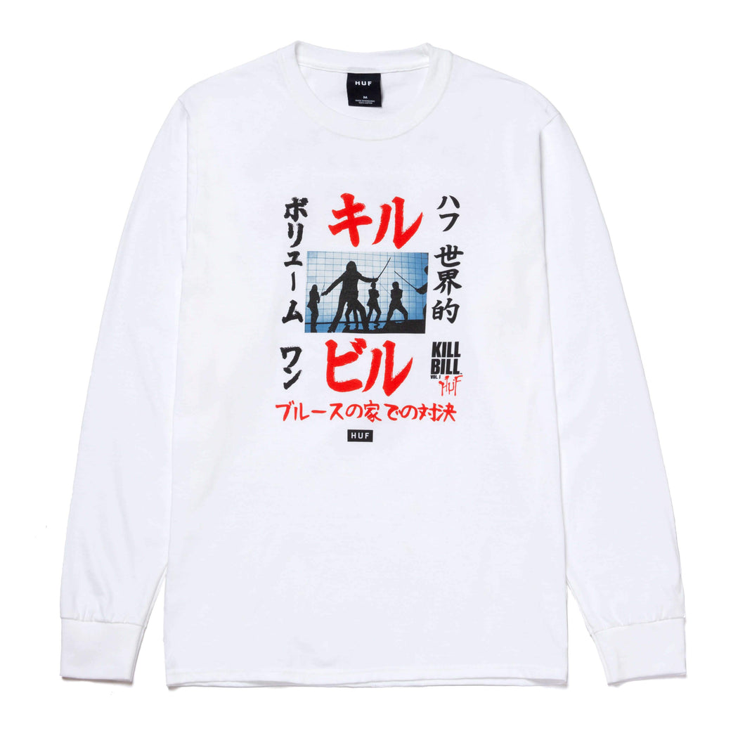Huf Showdown Long Sleeve T-shirt White
