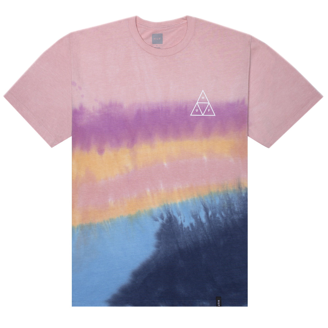 HUF Sky Wash T Shirt Mens Printed Tee Desert Flower