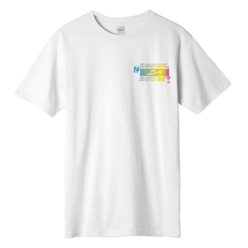 HUF So Many Bars T-Shirt White