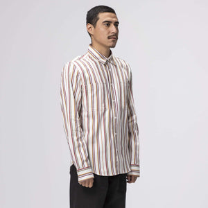 HUF TAYLOR WORK WOVEN LONG SLEEVE T-SHIRT WHITE