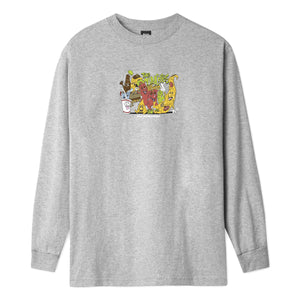 Huf The Munchies Long Sleeve T-shirt Grey Heather