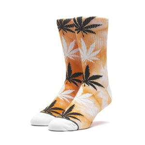 HUF Tie Dye Plantlife Sock Mens Sock Russet Orange