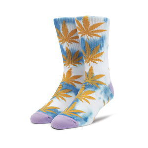 HUF Tiedye Plantlife Sock Pacific Blue