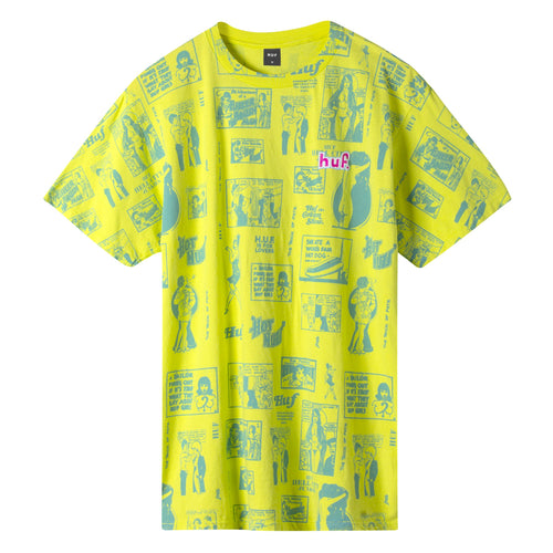 HUF Tijuana Memories T-Shirt Hot Lime