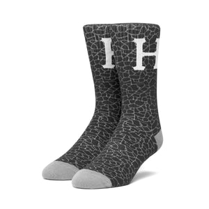 HUF Tonal Quake Sock Mens Sock Black