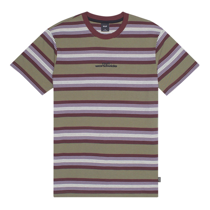 HUF Travis Short Sleeve Knit Top Mens SS Shirt Raisin