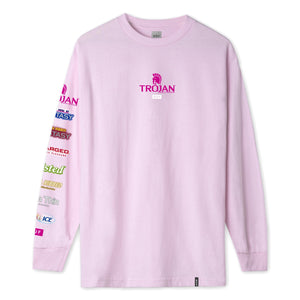 HUF Trojan Pleasure Pack Long Sleeve T-Shirt Mens Pink
