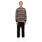 Load image into Gallery viewer, HUF Unveil Stripe Velour Long Sleeve Top Mens Sweater Black