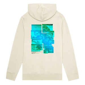 HUF Virtual Reality Pullover Hoodie Mens Hoodie Oyster White