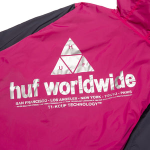 HUF Wave Anorak Jacket Hot Pink