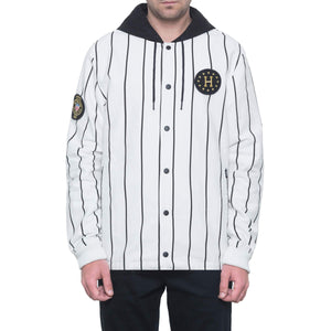 HUF Wc Referee Hooded Coaches Jkt White