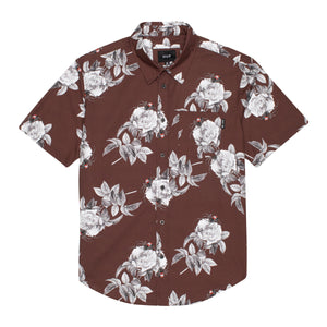 Huf Widower Short Sleeve Woven Shirt Deep Mahogany