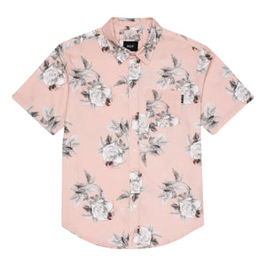 Huf Widower Short Sleeve Woven Shirt Plastic Pink