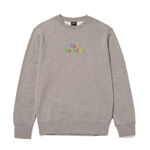 HUF Woz Crewneck Grey Heather
