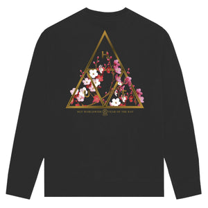 Year of the Rat Triple Triangle Crewneck Black