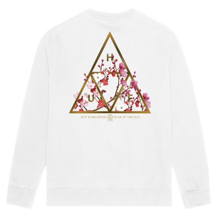 Year of the Rat Triple Triangle Crewneck White