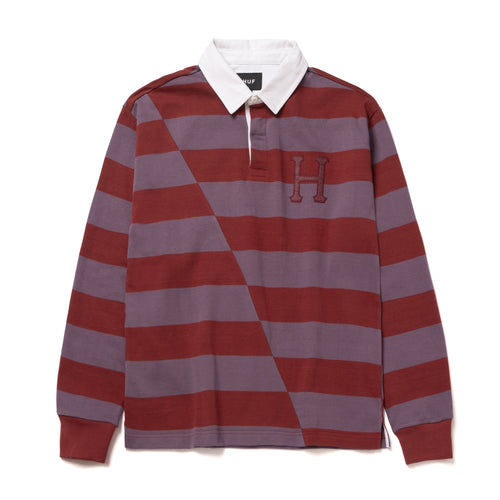 HUF Yorke Long Sleeve Rugby Brick
