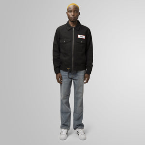 HUF ZERO TWILL MECHANIC JACKET BLACK