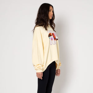 HUF Quake USA Crew Womens Sweater Ivory