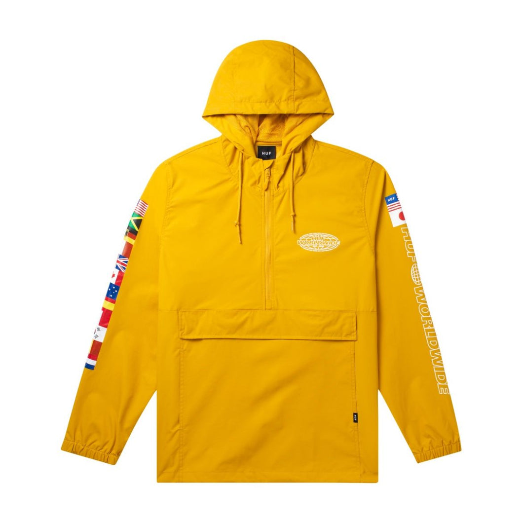 HUF World Tour Anorak Sauterne