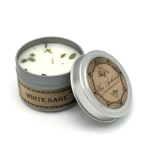 White Sage Botanical Travel Tin Candle 4oz