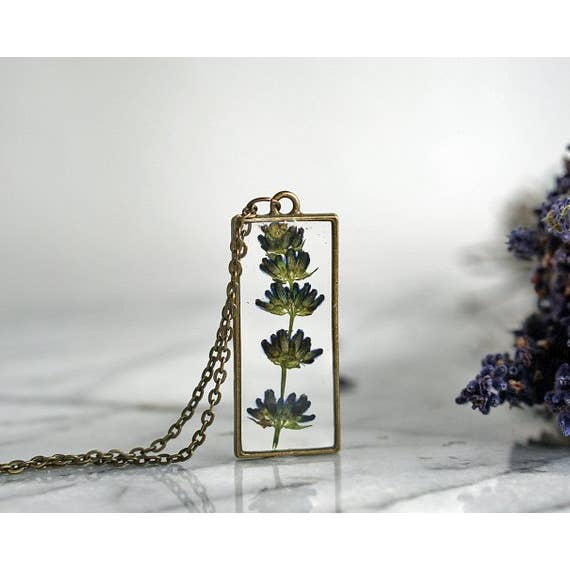 Lavender Pendant Necklace