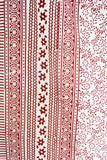 Red and White Printed Tapestry