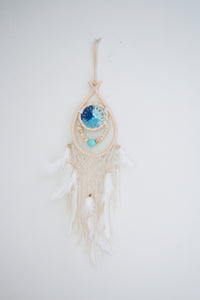 Small Blue Crochet Dream Catcher