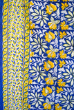 Blue and Yellow Printed Tapestry