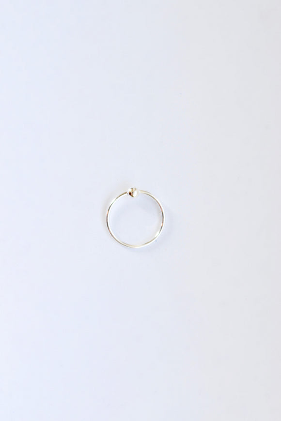 Small Sterling Silver Nose Hoop