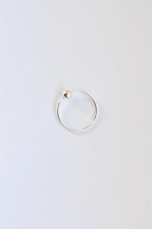 Large Sterling Silver Nose Hoop