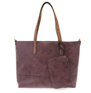 Brushed Aubergine 2 in 1 Tote