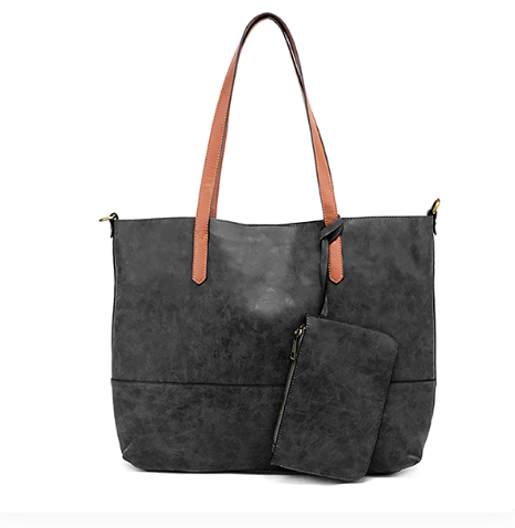 Brushed Black 2 in 1 Tote