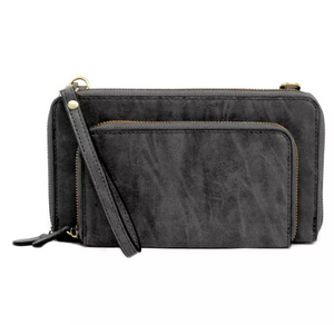 Brushed Black Mini Crossbody
