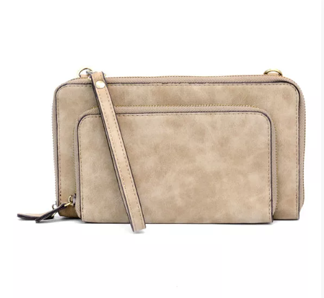 Brushed Tan Mini Crossbody