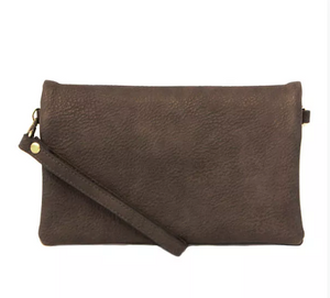 Charcoal Crossbody Clutch